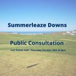 Summerleaze Downs- Public Consultation